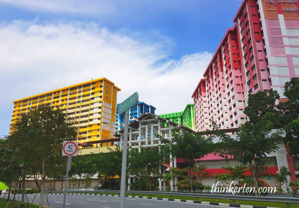 Colorful HDB in Rochor Road Singapore