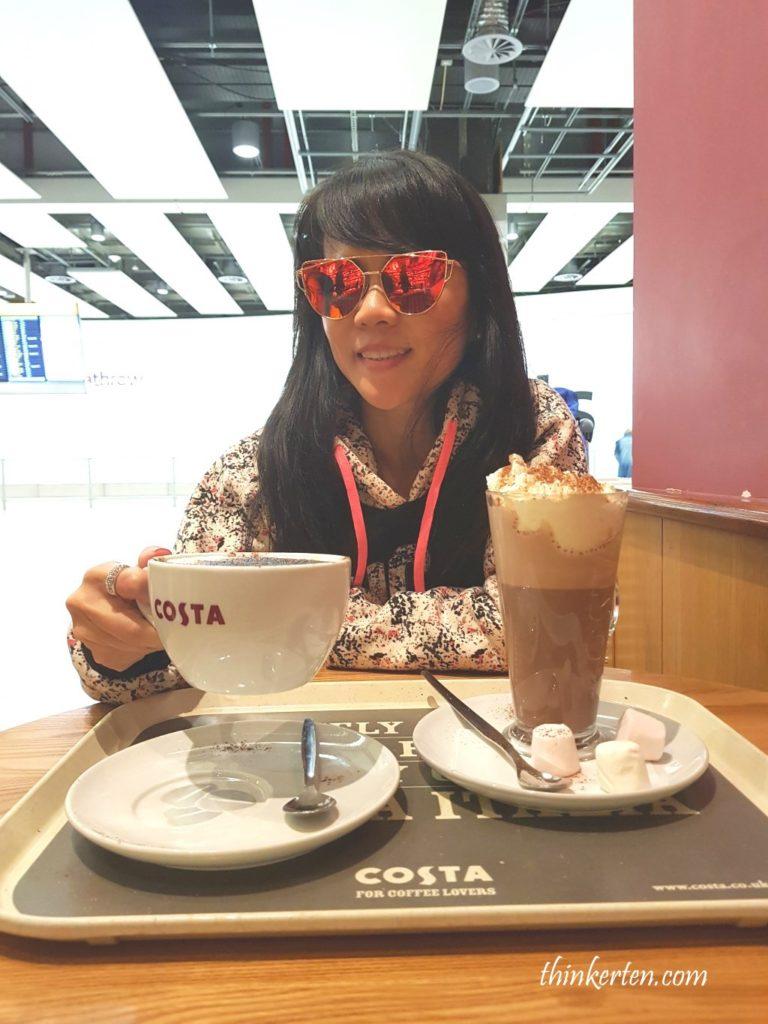 Costa Coffee at Heathrow Airport