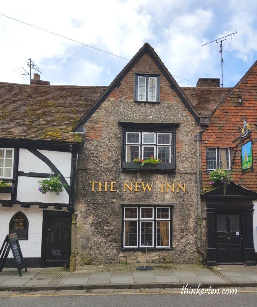 The New Inn in Salisbury Town in England