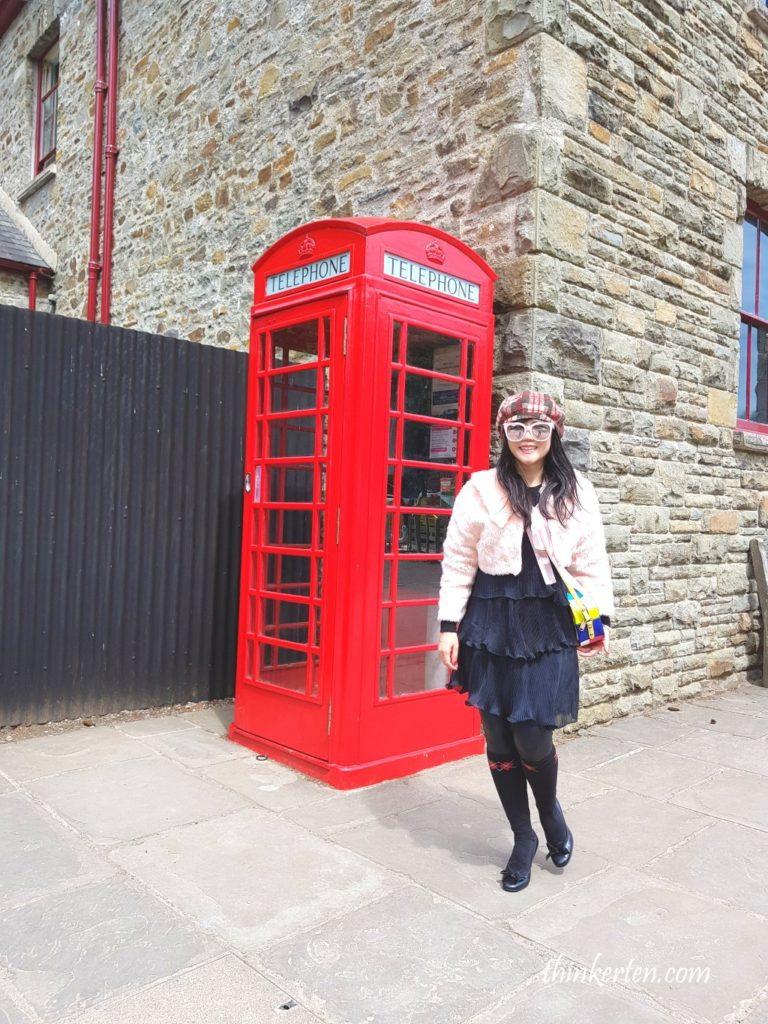 UK Red Telephone Booth at St Fagan Museum