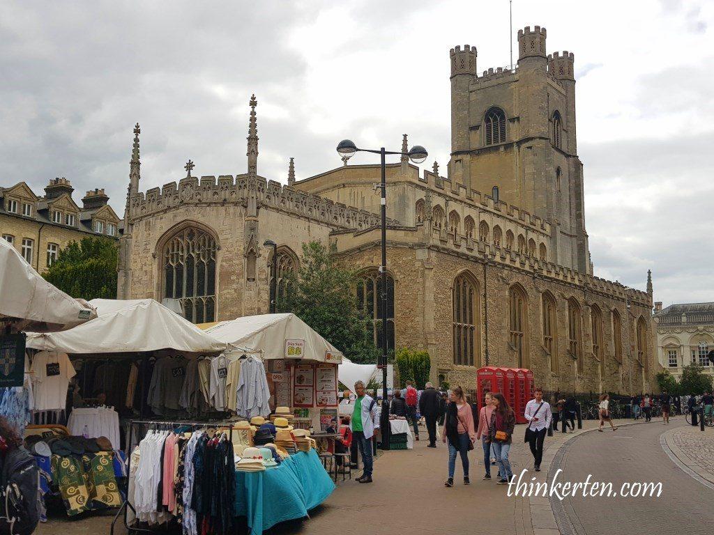 Market at Cambridge University UK