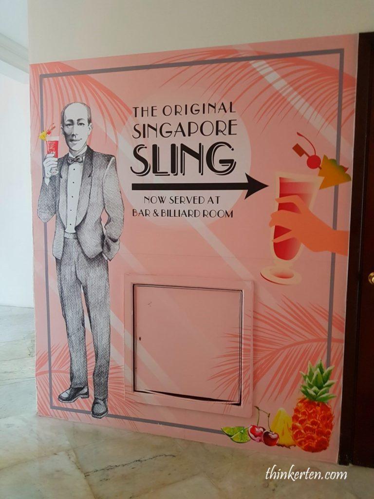 Singapore Sling in Raffles Hotel