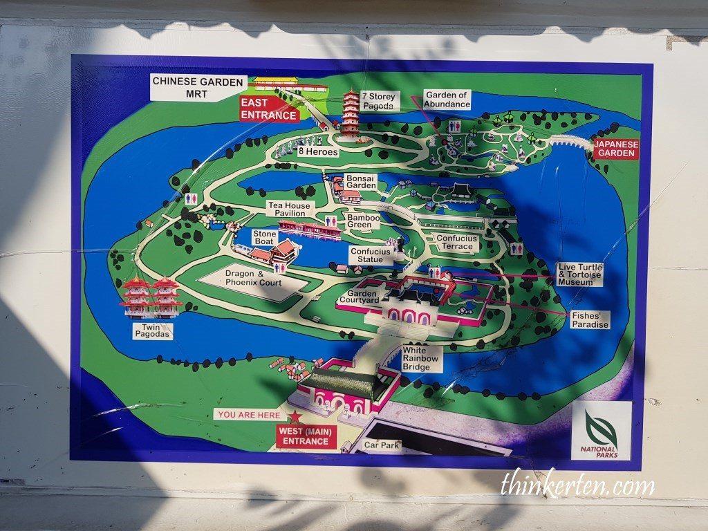 Singapore Chinese Garden Map
