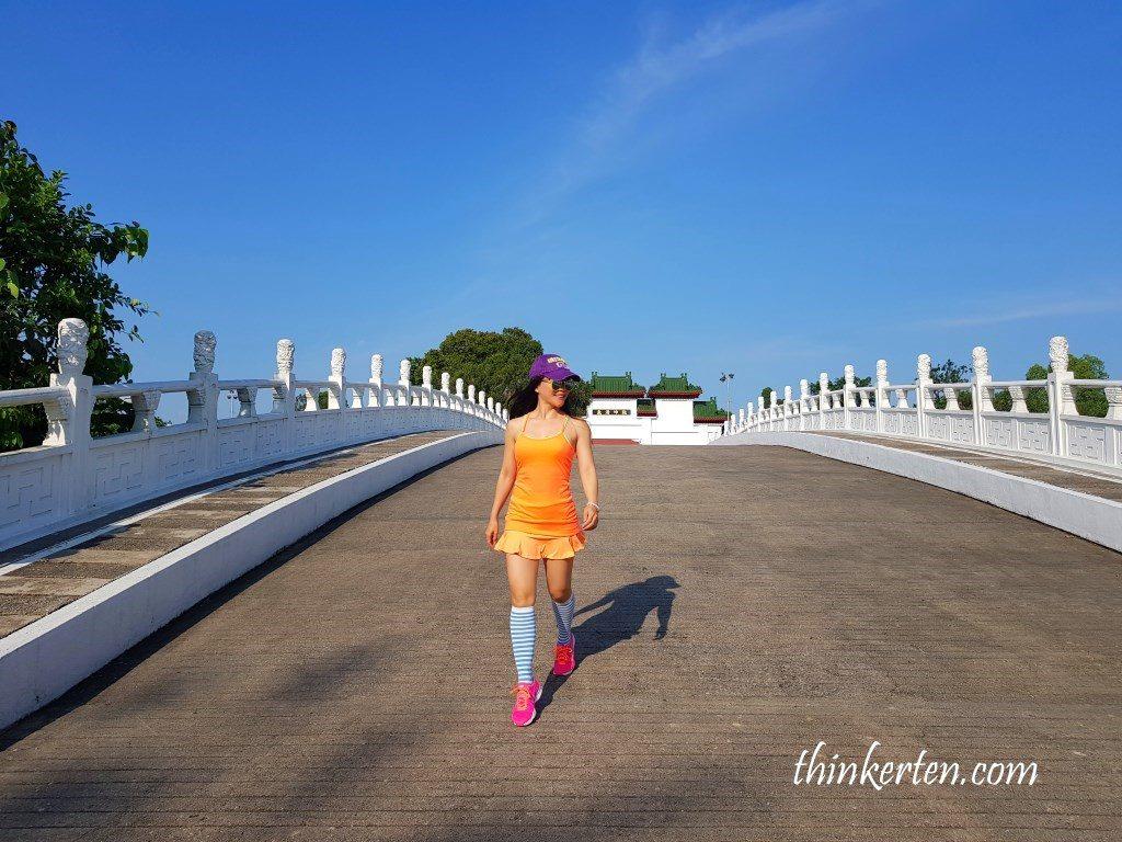 White Rainbow Bridge in Singapore Chinese Garden