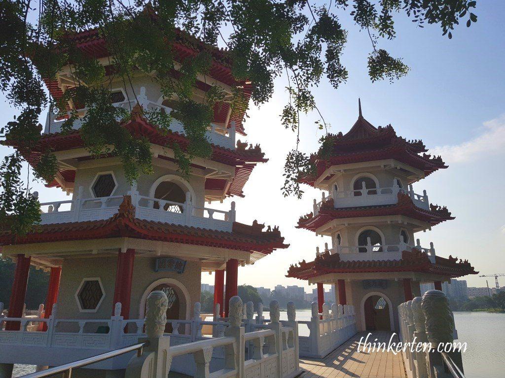 Twin Pagoda in Singapore Chinese Garden