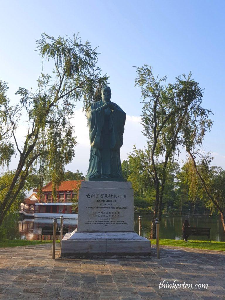 Confucius in Singapore Chinese Garden