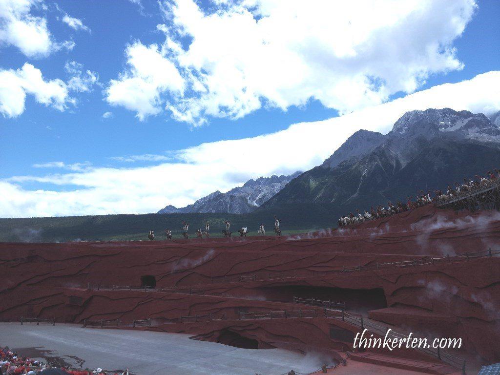 Jade Dragon Snow Mountain Show in Lijiang Yunnan
