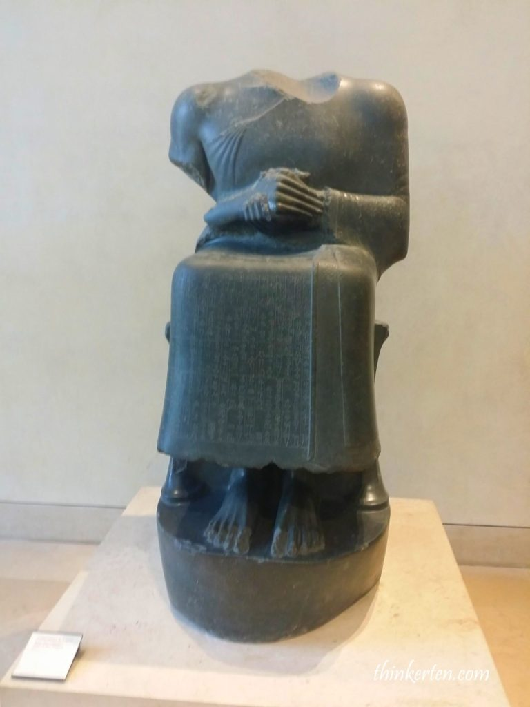 Headless statue of Gudea, Prince of Lagash - Lourve Museum