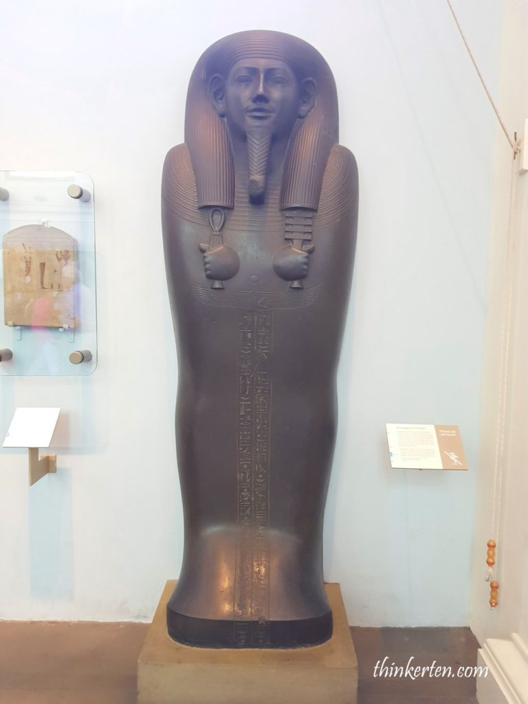 The sarcophagus lid of Sisobek British Museum