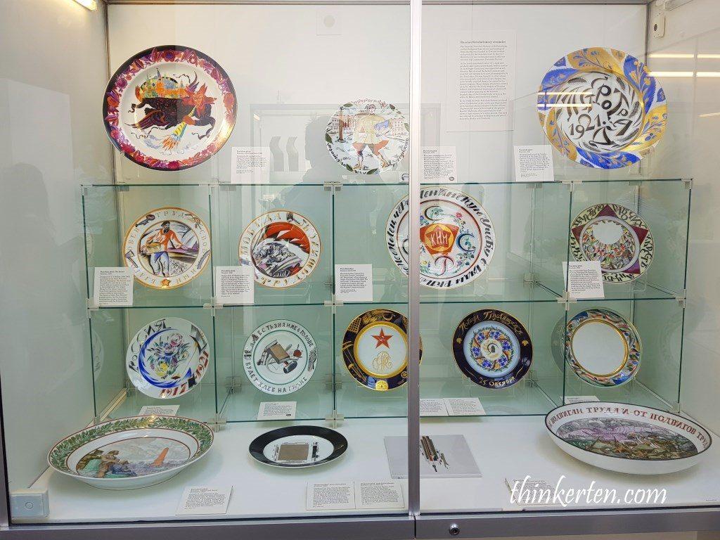 Russian porcelain plate