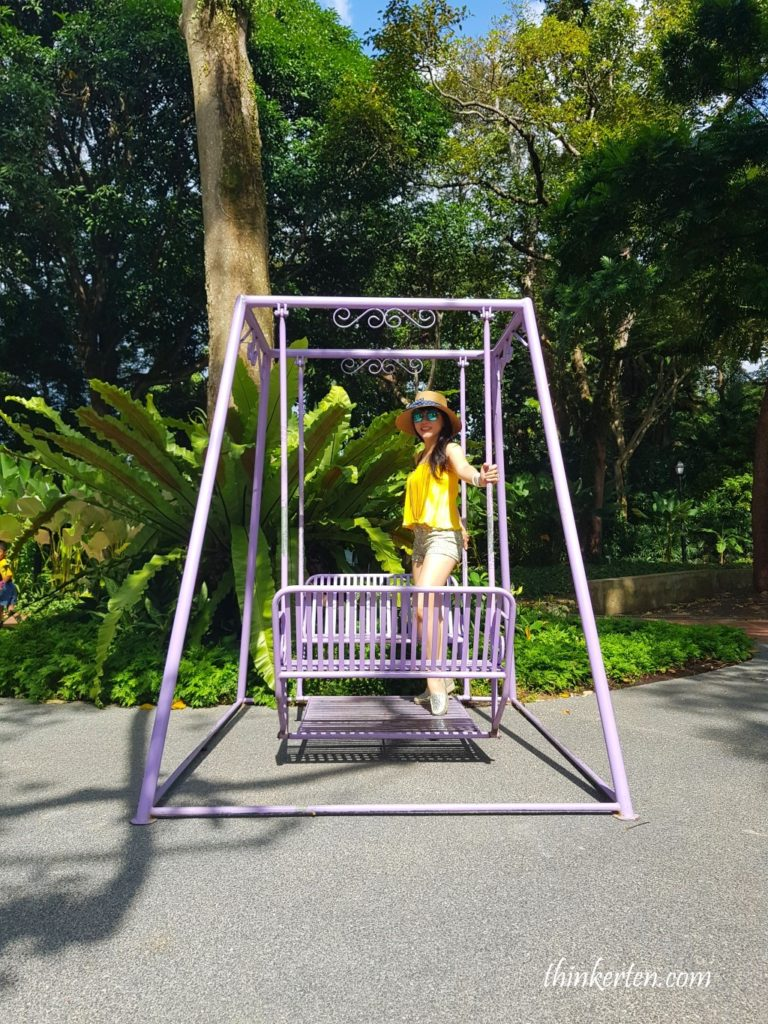 Purple Swing in Fort Canning Singapore