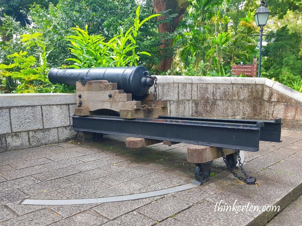9 Pound Cannon in Fort Canning