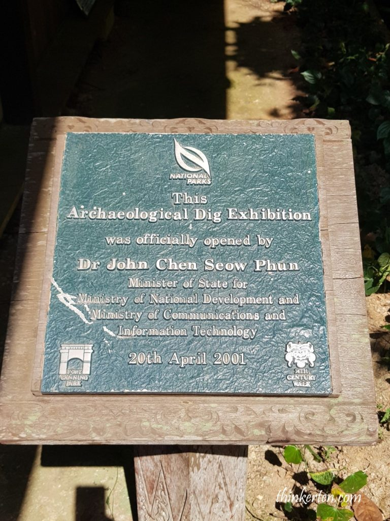 Archaeological Dig Exhibition in Fort Canning