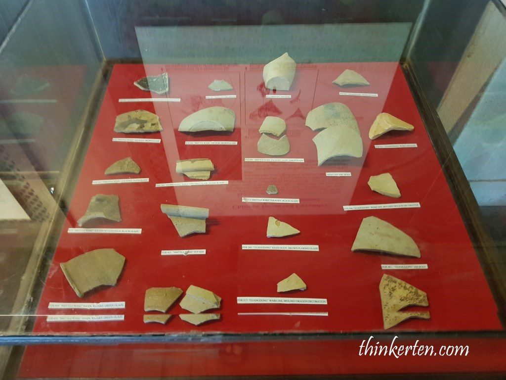 Artifacts in Fort Canning Singapore