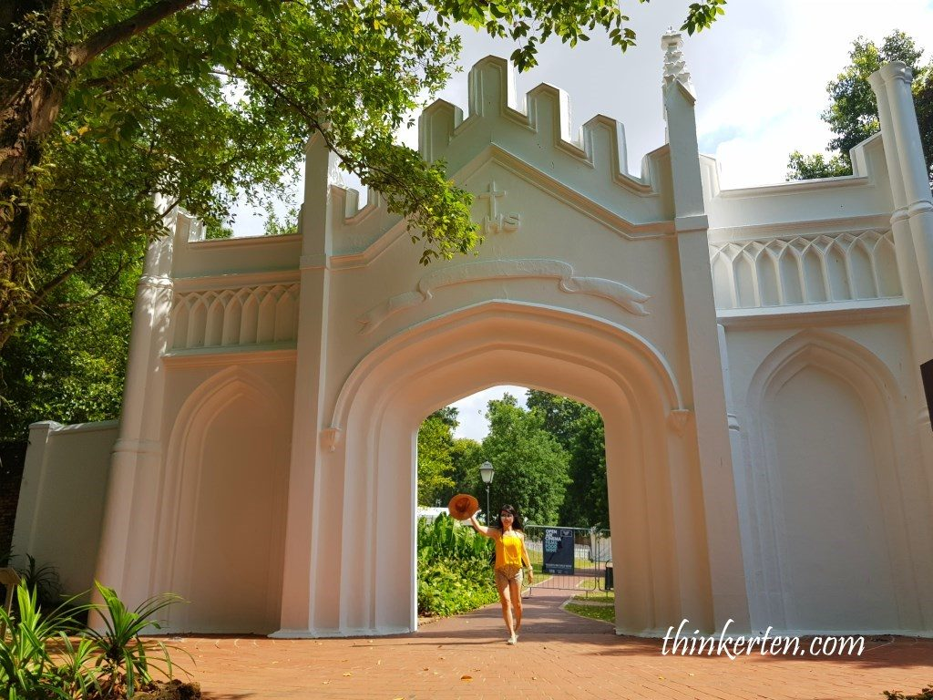 Gothic Gate in Fort Canning Singapore