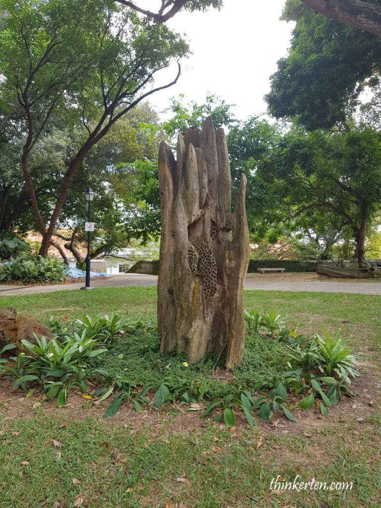 Sculptures in Fort Canning Singapore