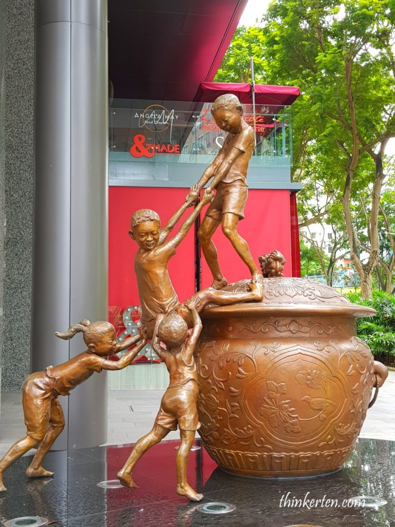 Budak Budak Sculpture Orchard Road Singapore