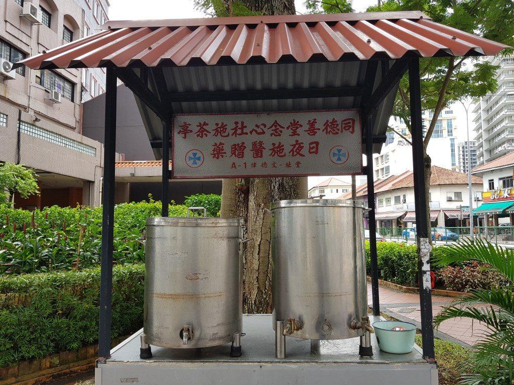 Free Water & Tea at corner of Boon Teck Road