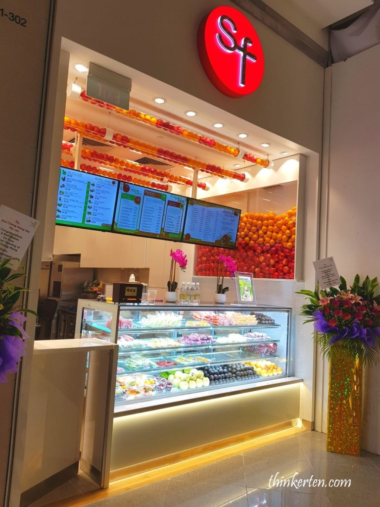 SF fruits and juice store at Suntec City Singapore