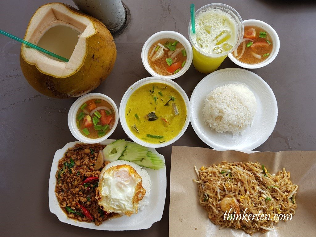 Thai cuisine at East Coast Park Singapore