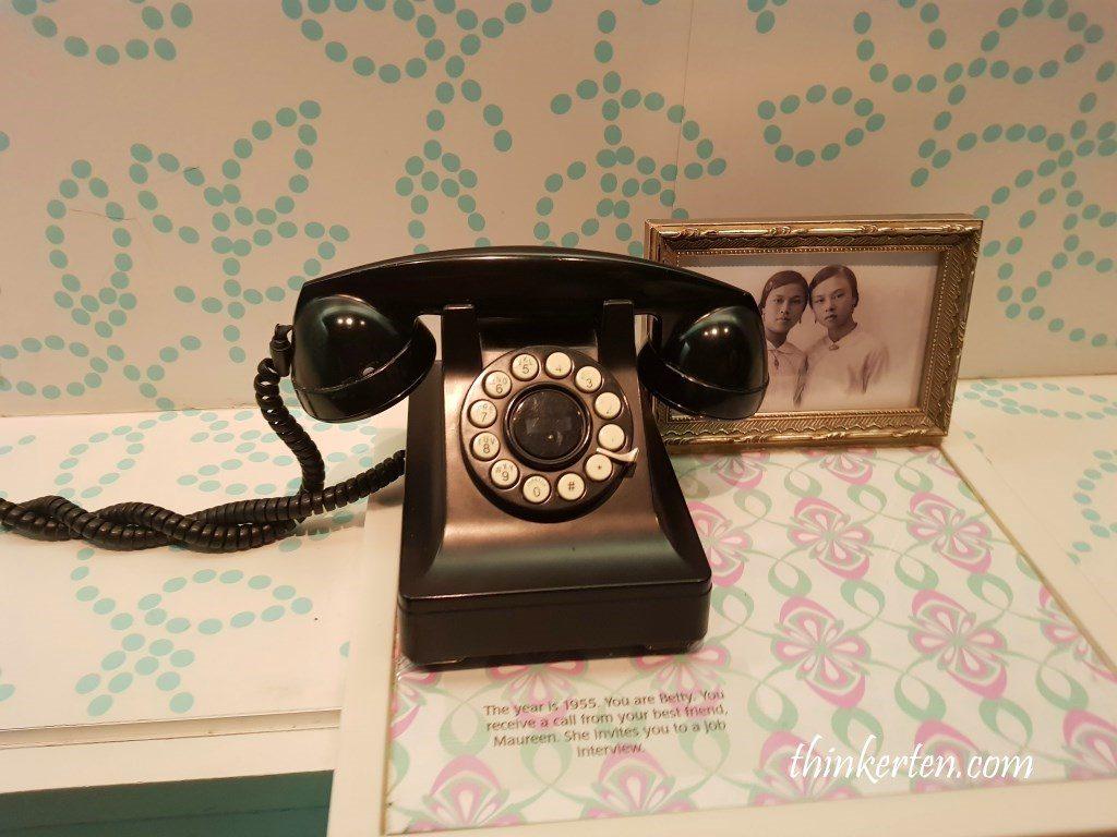 Old Black Phone at Peranakan Museum Singapore