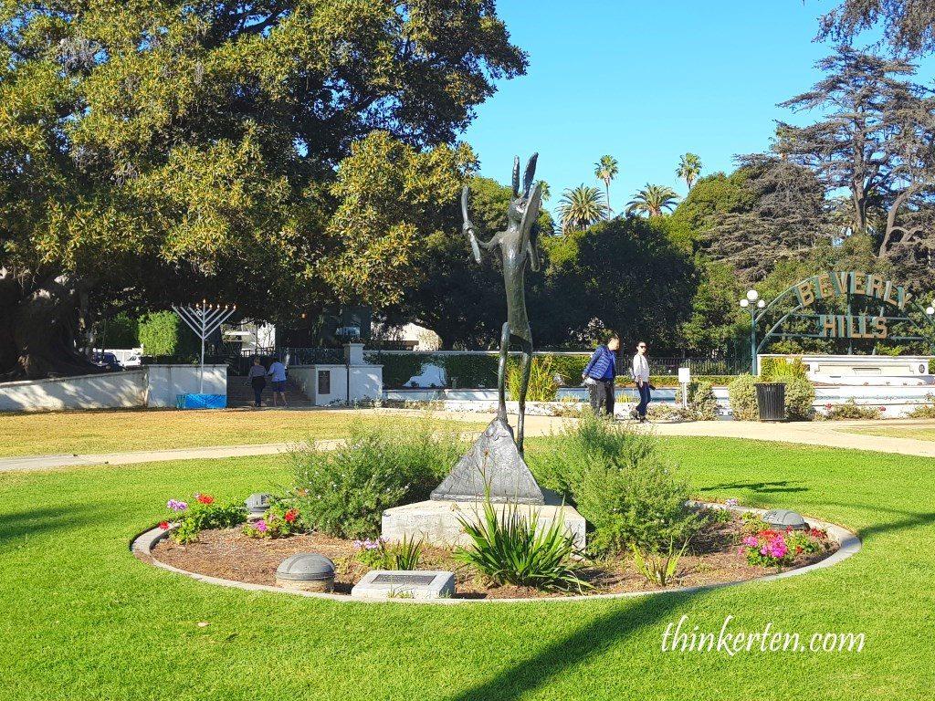 Beverly Hills Rabbit & Drum Sculpture