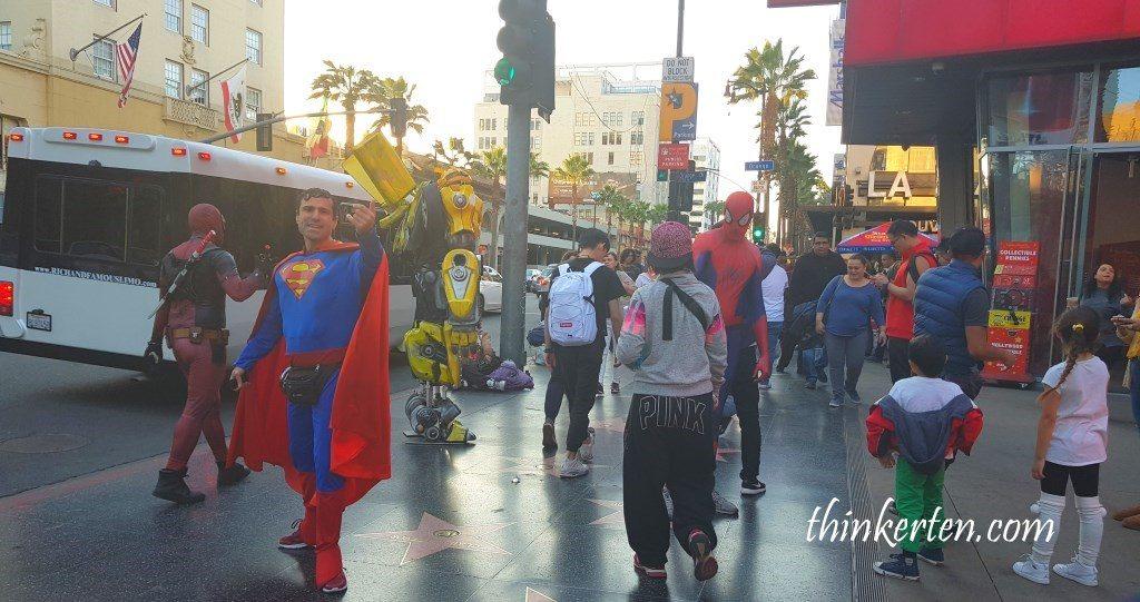 Costumed Superhero at Hollywood Walk of Fame