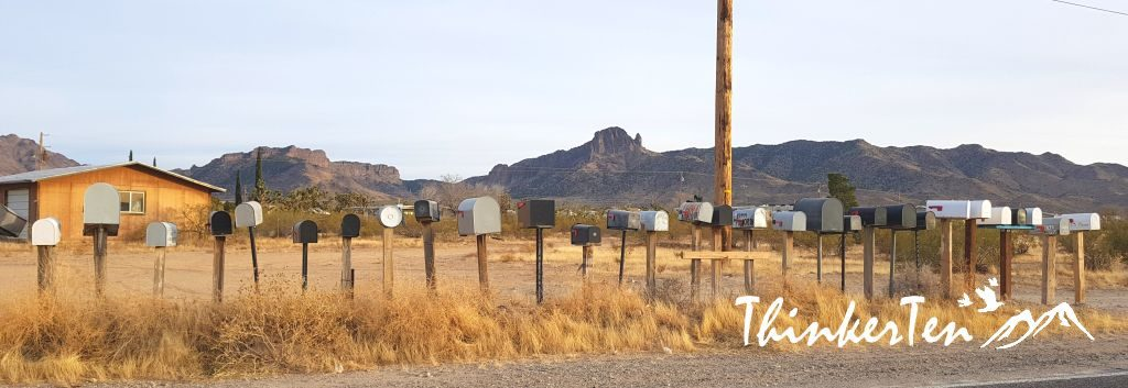 Mailbox at Dolan Springs Arizona