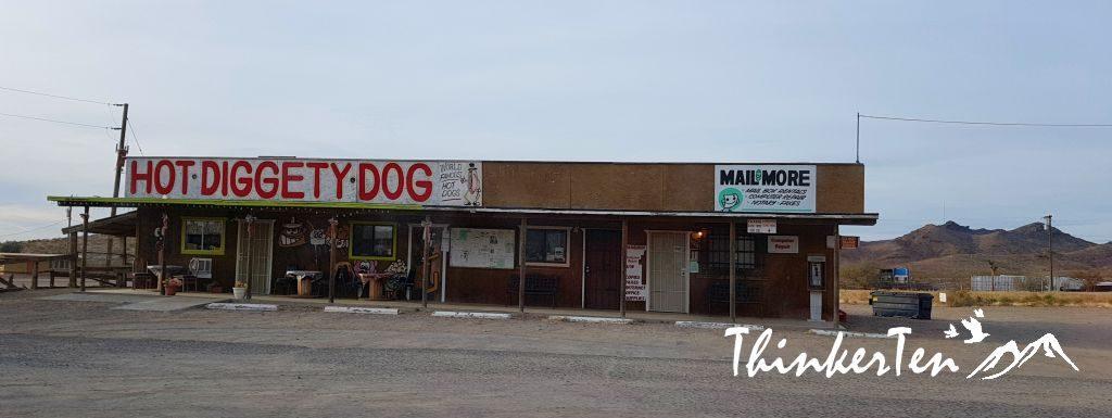 Hot Diggety Dog at Dolan Springs Arizona