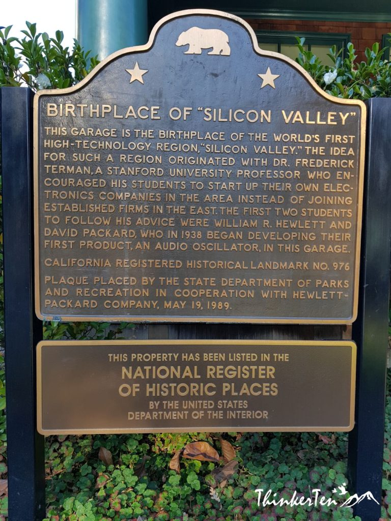 HP Garage - Birth Place of Silicon Valley
