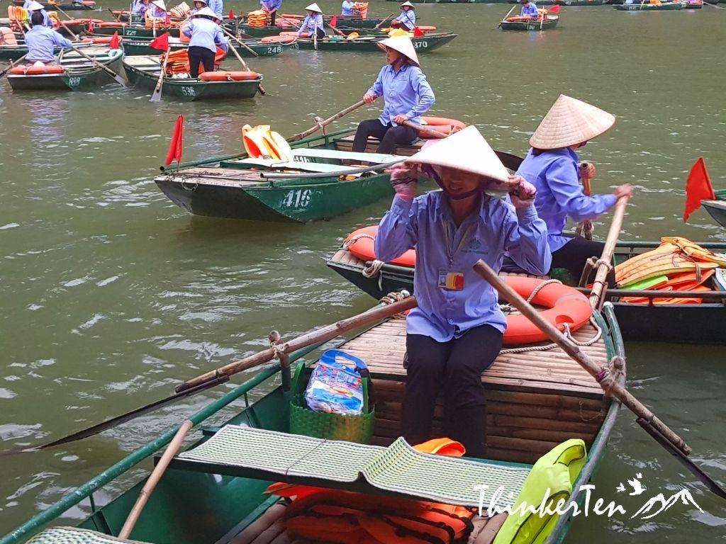 Vietnam : A Fun Day Cycling & Boat Ride Through Trang An Grottoes!