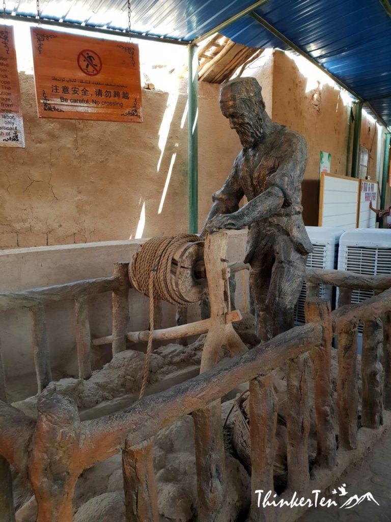 Silk Road China Xinjiang : Karez Well at Turpan -2000 Years Old Water System