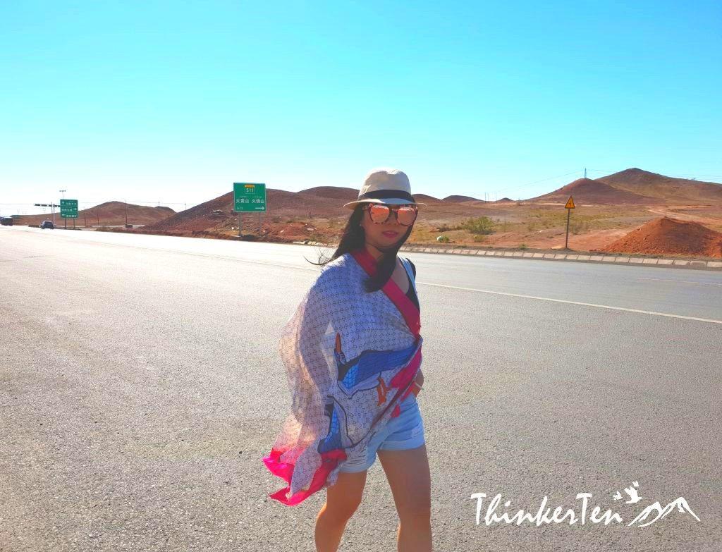 China Xinjiang Urumqi : A brief stop at Huoshaoshan 火烧山 - Red Fire Mountain