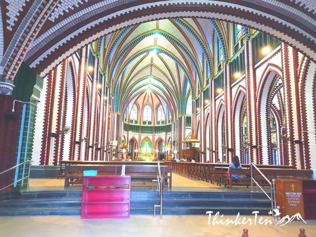 Myanmar : St. Mary's Cathedral, a little oasis in the heart of Yangon.