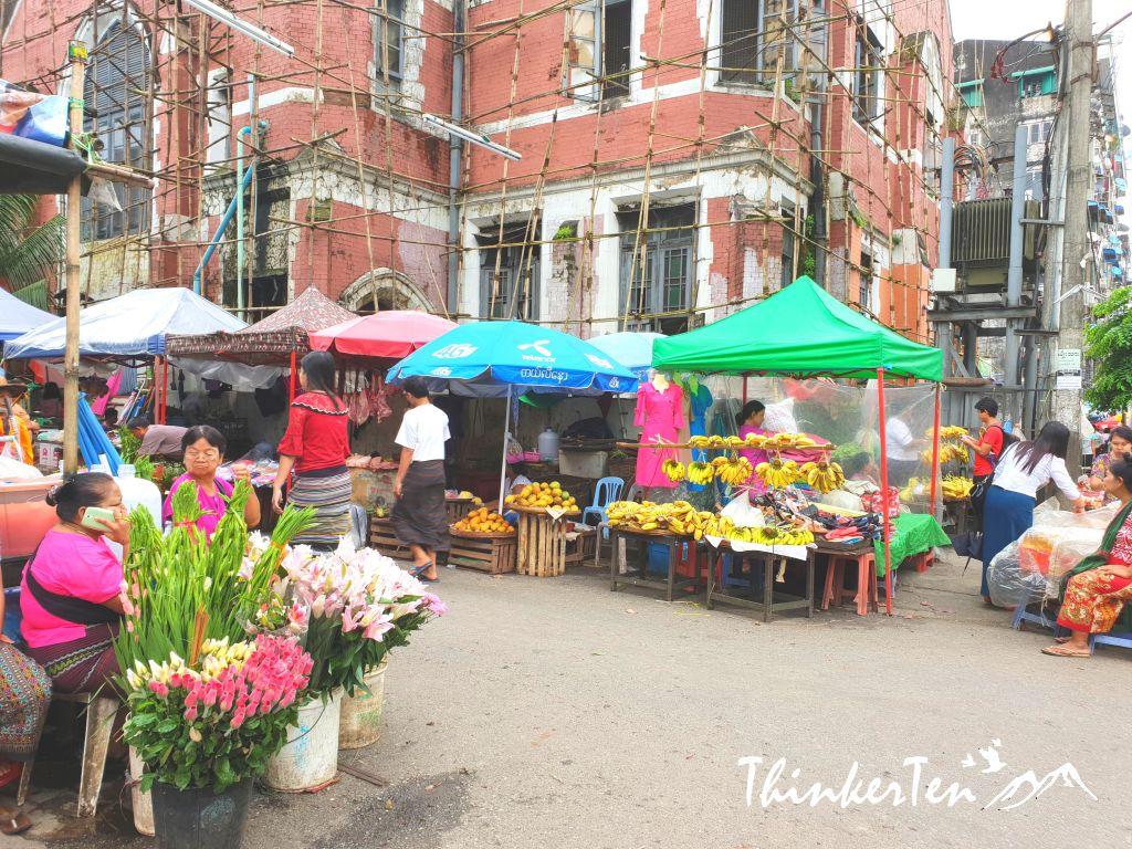 Myanmar : Yangon Chinatown - Wet Market & BBQ Heaven