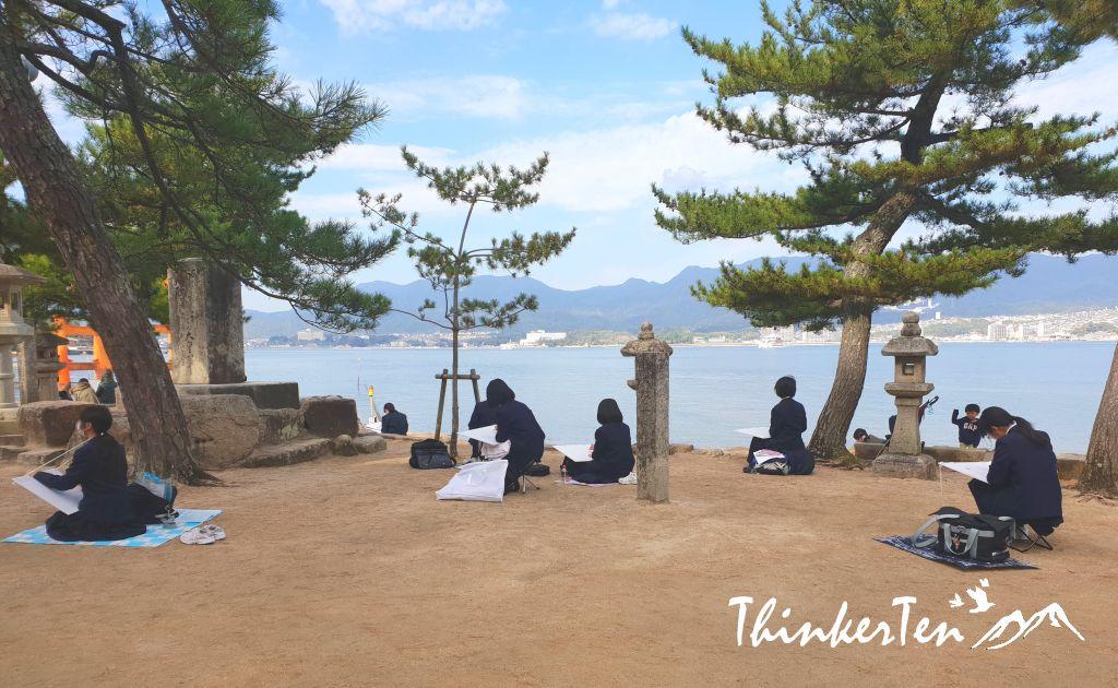 The Floating Shrine in Miyajima Hiroshima Japan