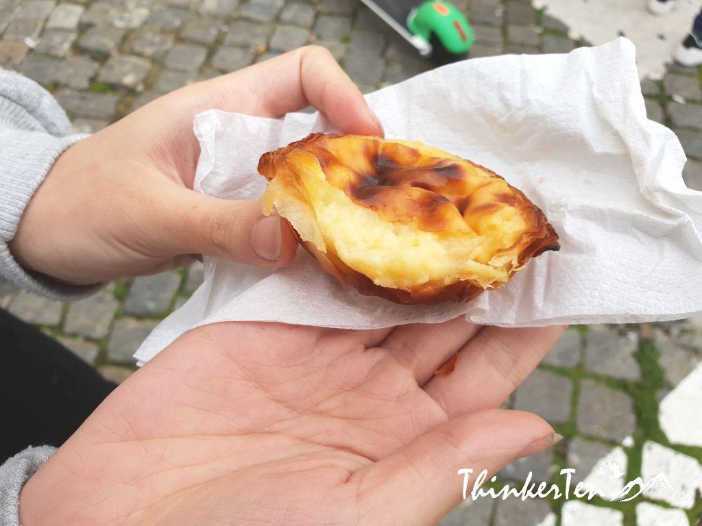 The most famous Portuguese egg tarts in Lisbon Portugal - Pastéis de Belém