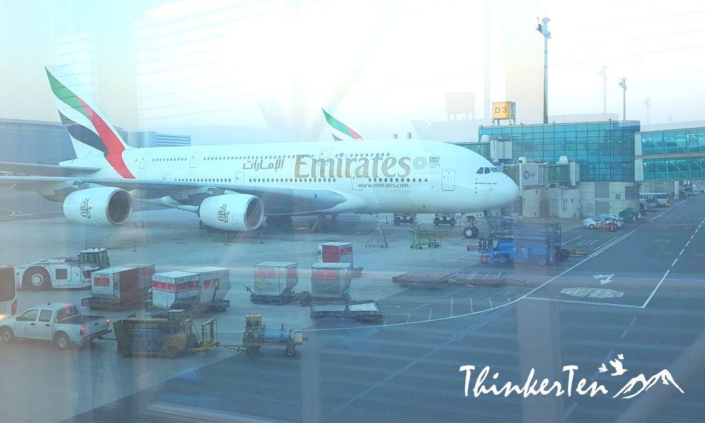 Dubai International Airport & Emirates Airline A380 Review