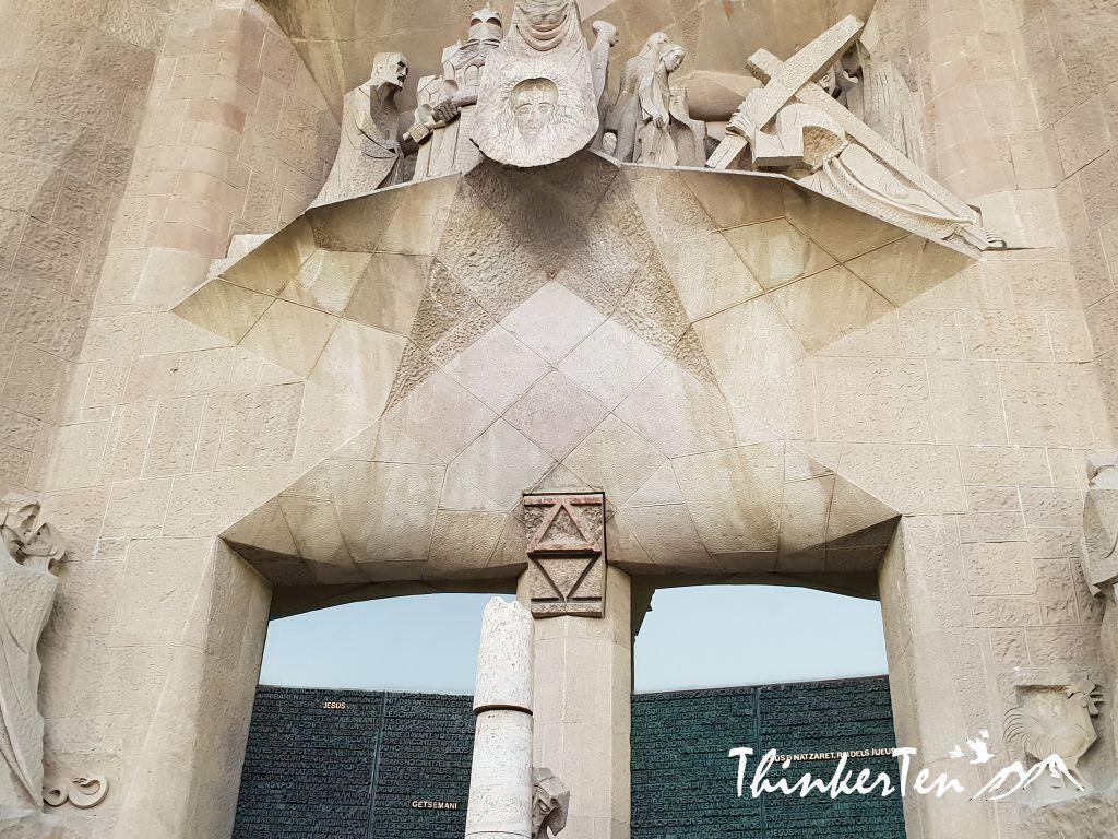 "Sagrada Familia - The unfinished church by ""God Achitect""-Antonti Gaudi at Barcelona, Spain"