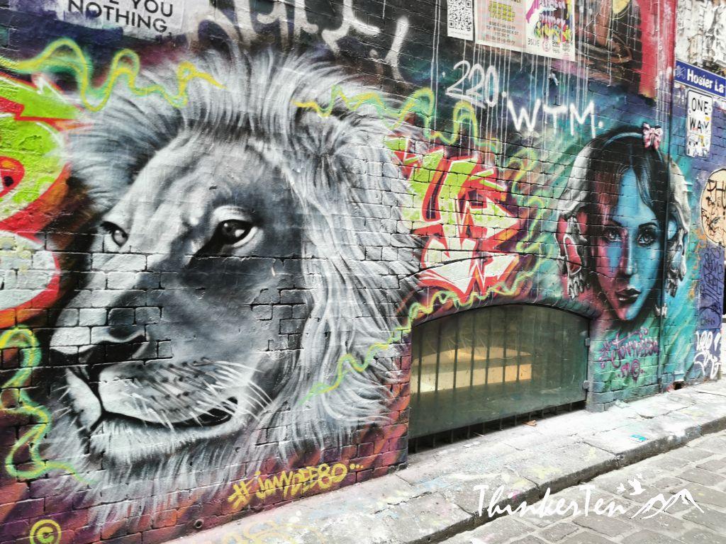 Melbourne Street Art at Hosier Lane