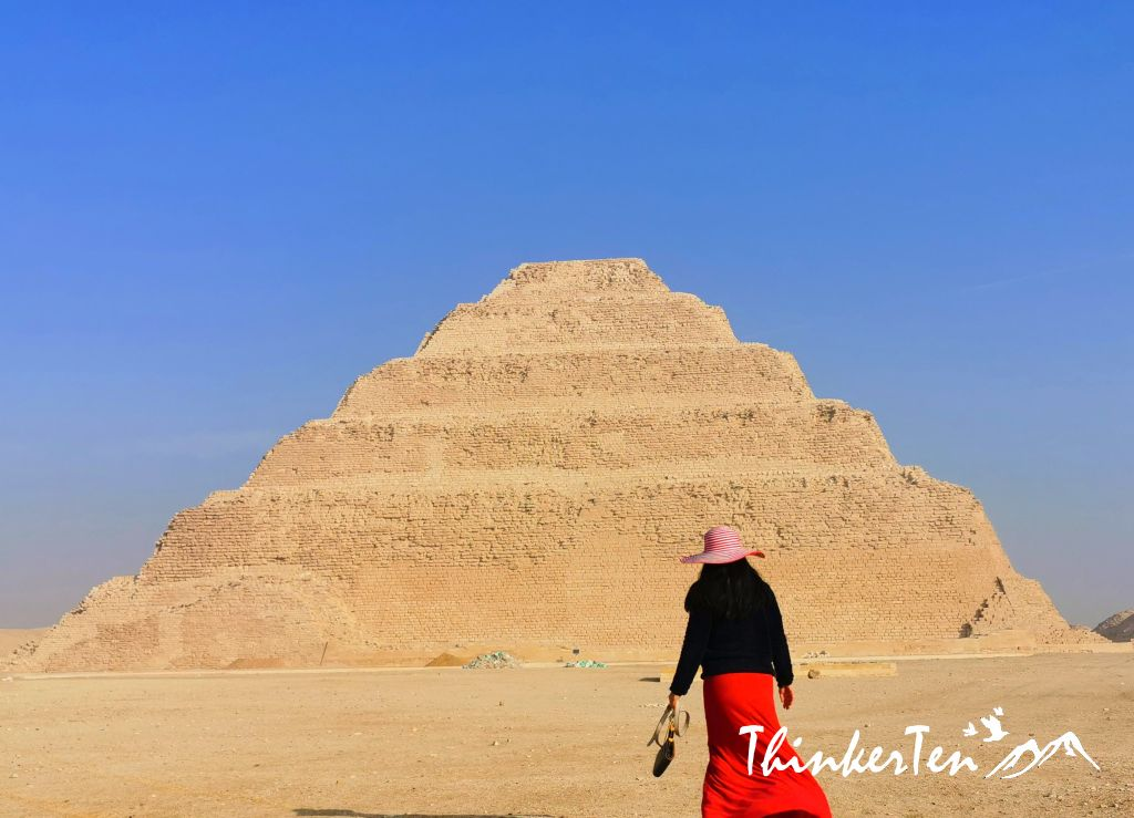 The oldest pyramid in the world - the Step Pyramid of Saqqare in Egypt
