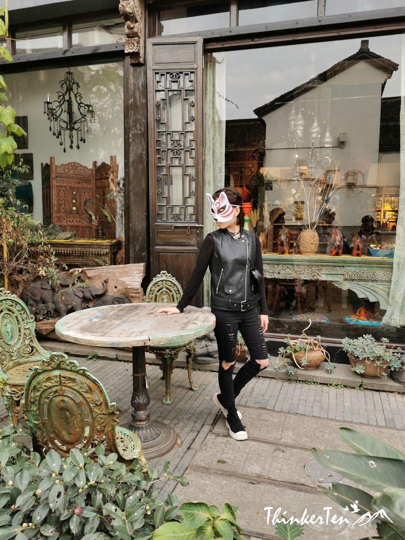 Hanfu, traditional Chinese art, snacks hunting in Hangzhou Qinghefang Ancient Street 清河坊